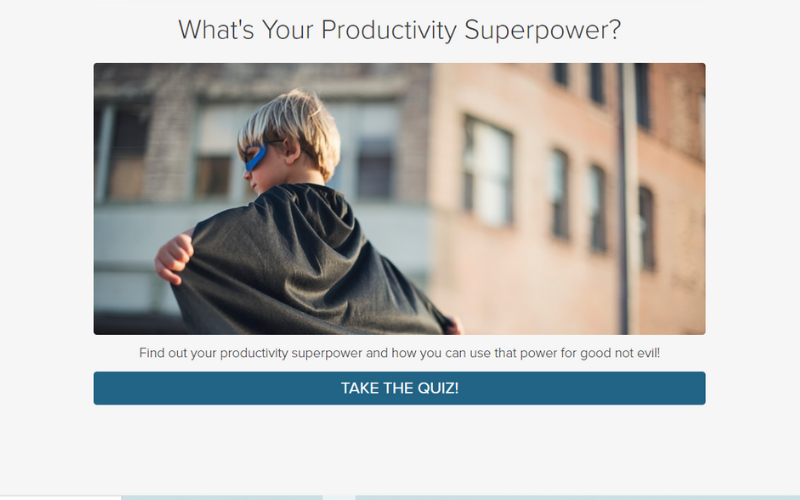 quiz cover for What's your productivity superpower?
