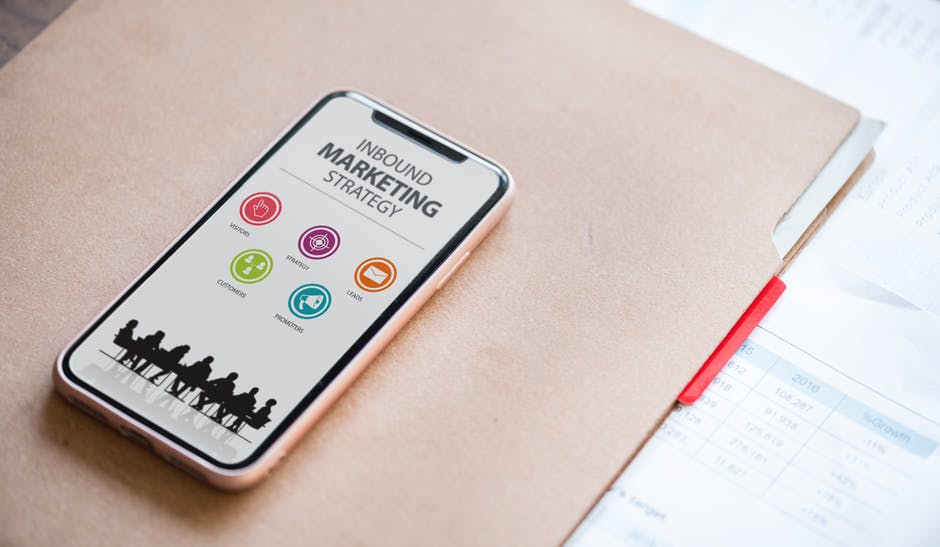 inbound and outbound marketing explained on an iphone screen