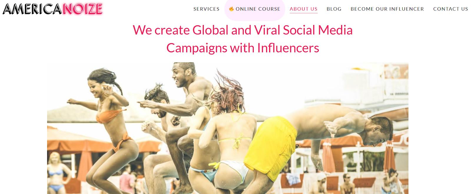 America Noize. Top influencer marketing agency 2021