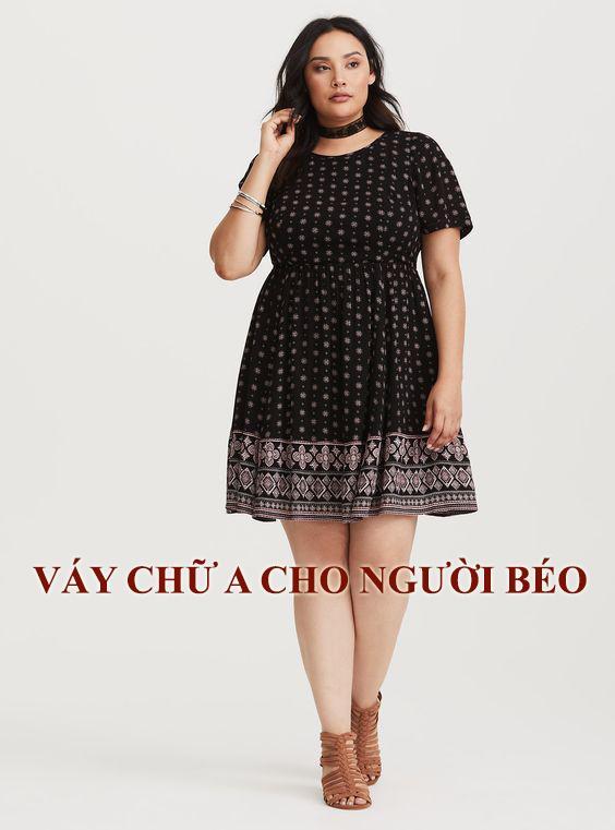 Váy chữ A cho người béo