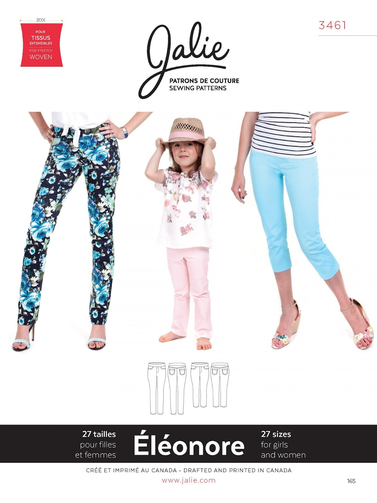 Jalie 3461 - Éléonore Pull-On Jeans
