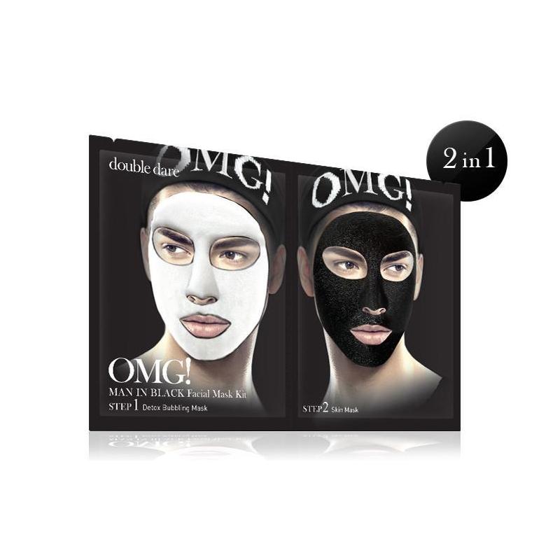 Riano: pleťová maska pro muže OMG! 2 v 1 Double Dare
