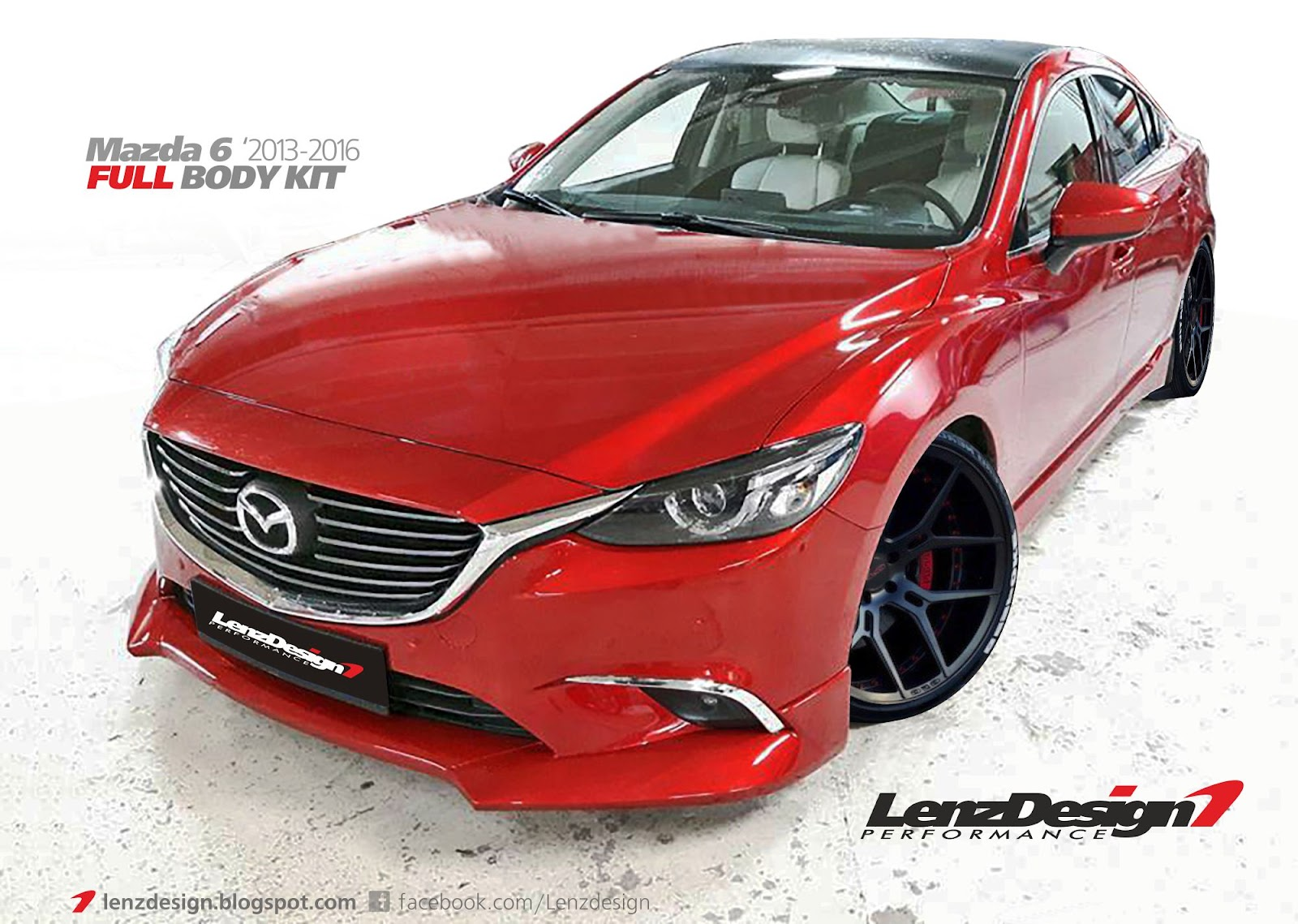mazda 6 2015 2016 tuning lenzdesign performance body kit. Black Bedroom Furniture Sets. Home Design Ideas