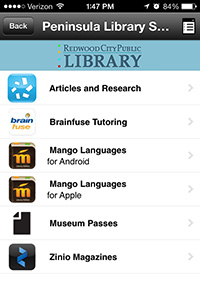 Peninsula Library System: Redwood City Public Library's Resources