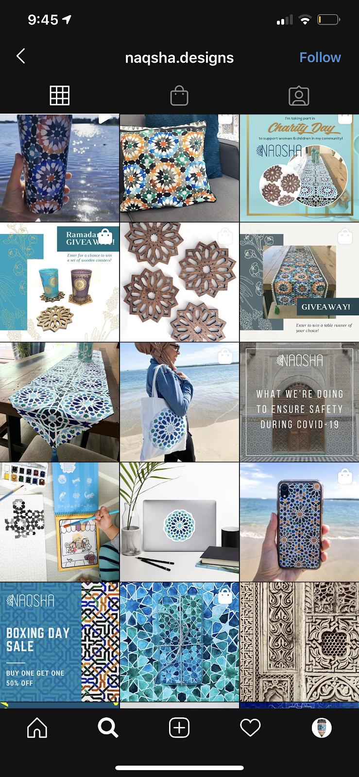 geometric shapes instagram theme