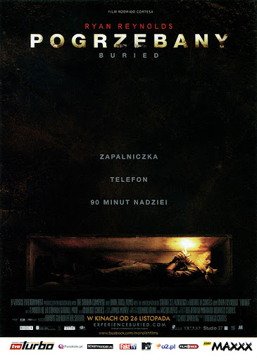 Przód ulotki filmu 'Pogrzebany'