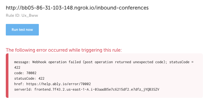 Expected error while triggering this rule