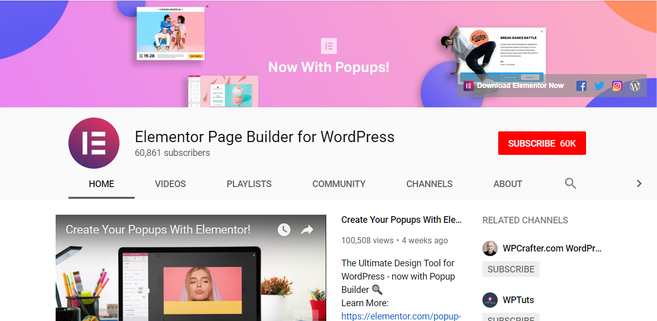 Elementor-WordPress Page Builder - Wp Stairs