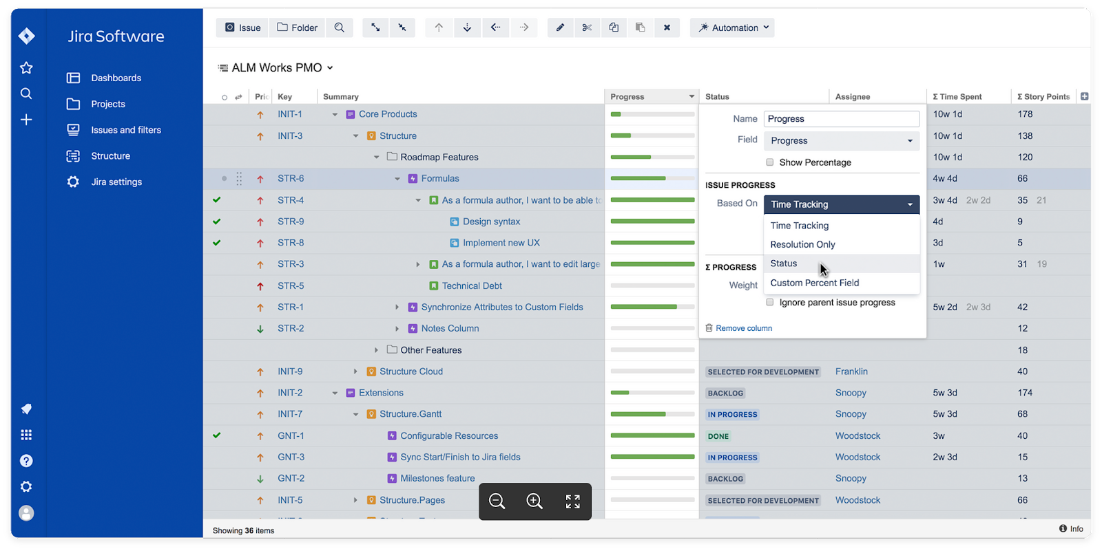 Structure - project management for Jira