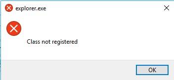 class not registered windows 10
