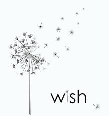 Image of dandelion with seeds being blown illustrating making a wish