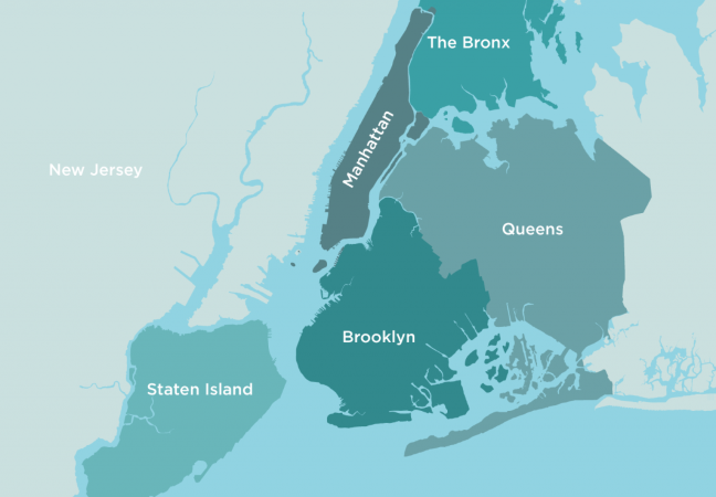 Map of NYC Boroughs