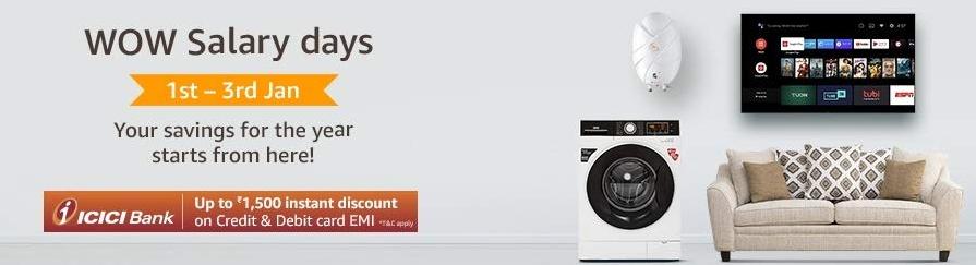 Amazon WOW Salary Days Sale [1st - third January]