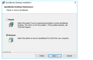 Re-installing the QuickBooks Desktop application