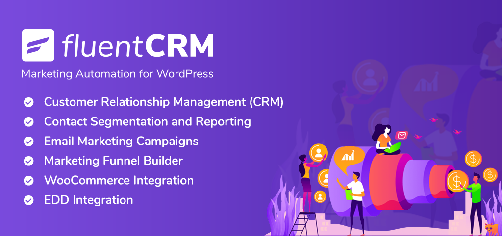 fluentcrm, email marketing plugin, fluentcrm banner