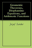 Geometric theorems, Diophantine equations, Arithmetic functions