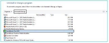 QuickBooks Error 61689 : uninstall program