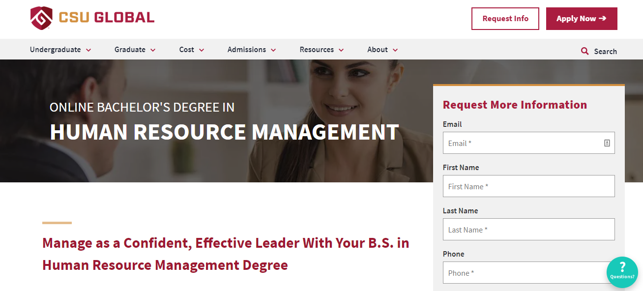 Online Bachelor's Degree in Human Resource Management [Colorado State University Global Campus]