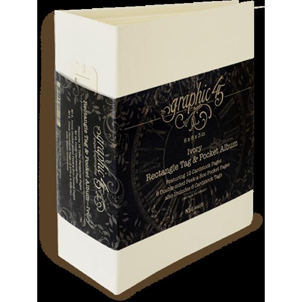 Rectangle Tag & Pocket Album—Ivory