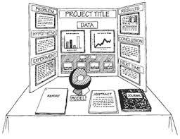 display board cartoon | Science fair projects, Middle school science fair  projects, Science fair board layout