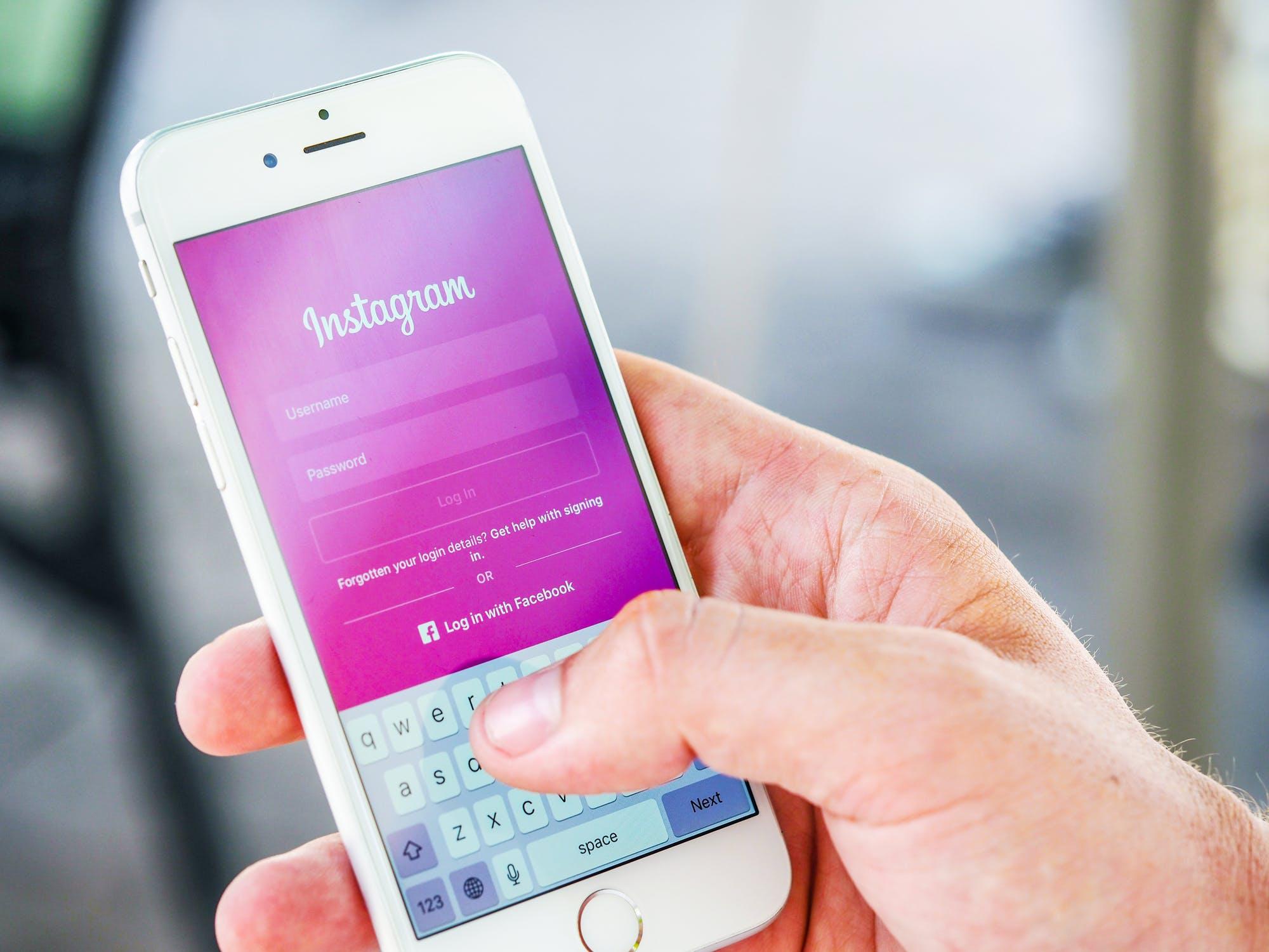 image of instagram mobile app