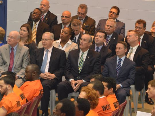 Several top Westchester administration members attended
