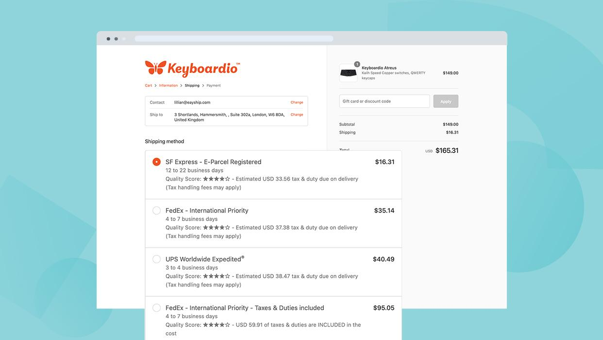 Automated Shipping Tool to Rush Delivery