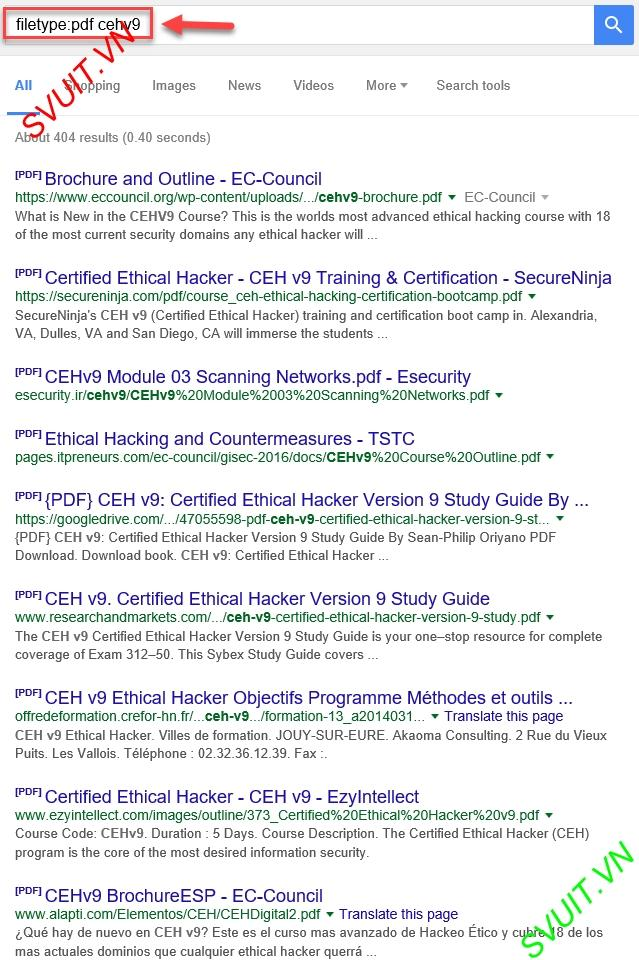 CEH - [Lab 2 5] Advanced Google Hacking techniques