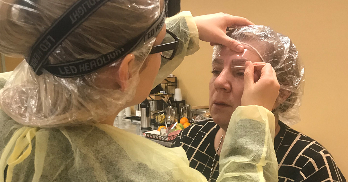 Live Microblading Practicle- Microblading Training