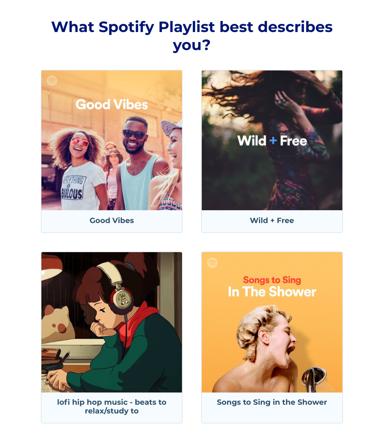 Brevite quiz question about music taste