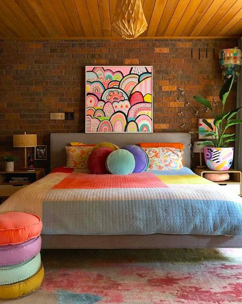 Colorful Rainbow Paradise in Your Large Primary Bedroom