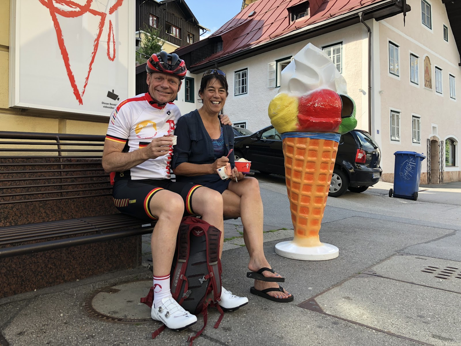 Berchtesgaden - cycling Eagles Nest - PJAMM cycling, ice cream