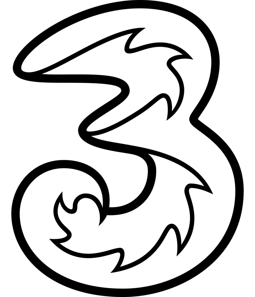 Tri logo cellular service provider