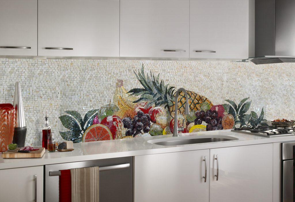 Exotic fruits Mosaic Kitchen Tile, Mozaico