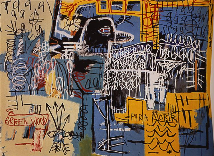 Jean-Michel Basquiat, Bird on Money [Pássaro no Dinheiro] 1981. Wikiarte/Fair Use