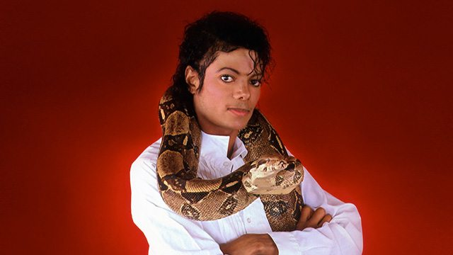 Michael Jackson & Muscles the snake