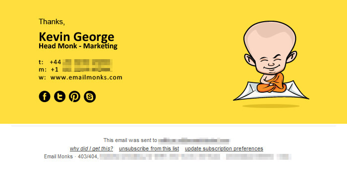 Email Template Design Footer