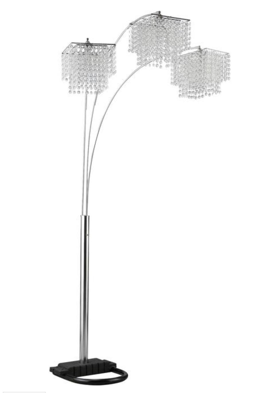 Crystal Drop Shade Floor Lamp
