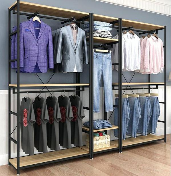 ▷ 10 mẫu kệ treo quần áo, để quần áo tại shop thời trang đẹp nhất