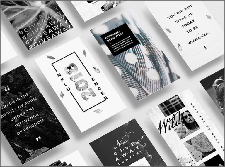 Black and White Stories Templates