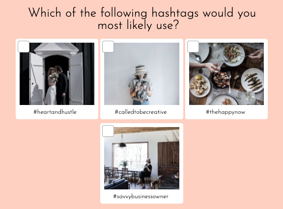 hashtag question with images