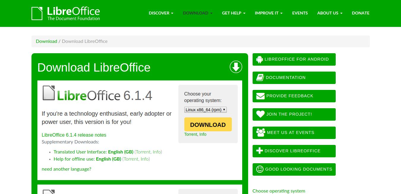 LibreOffice excel alternativa