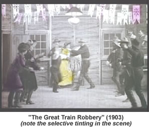 A scene from The Great Train Robbery.