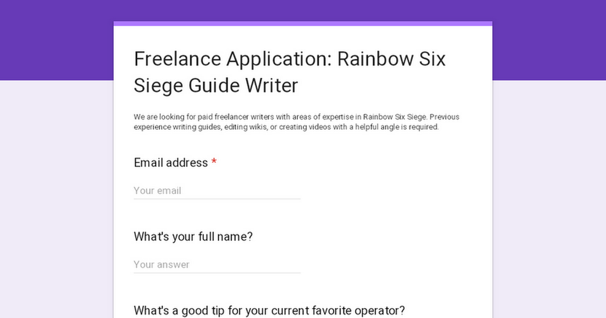 Now Hiring: Rainbow Six Siege Strategy Guide Writers | Gaming Informers