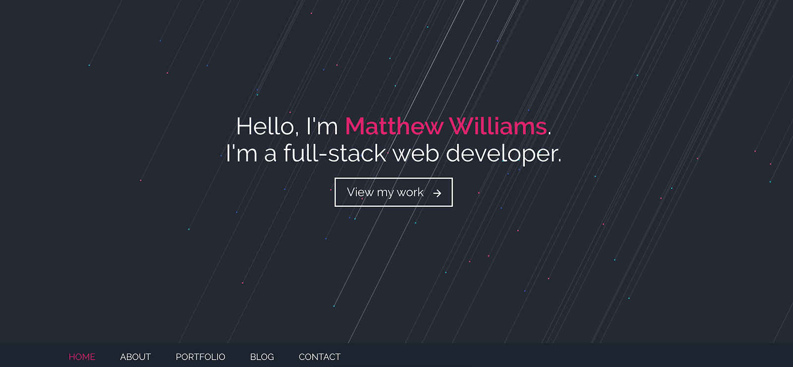 Web Developer Portfolio of Matthew Williams
