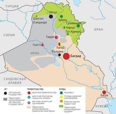 Кто и какие территории контролирует в Ираке
