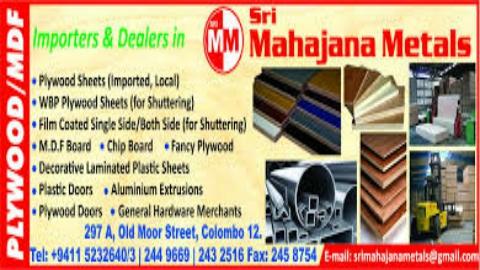 SRI MAHAJANA METALS - PLYWOOD DISTRIBUTION COMPANY ...