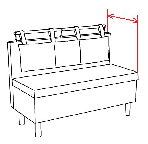 габаритная глубина прямого дивана