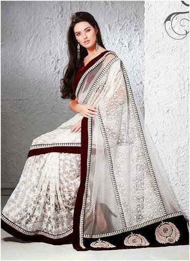 A beautiful white saree