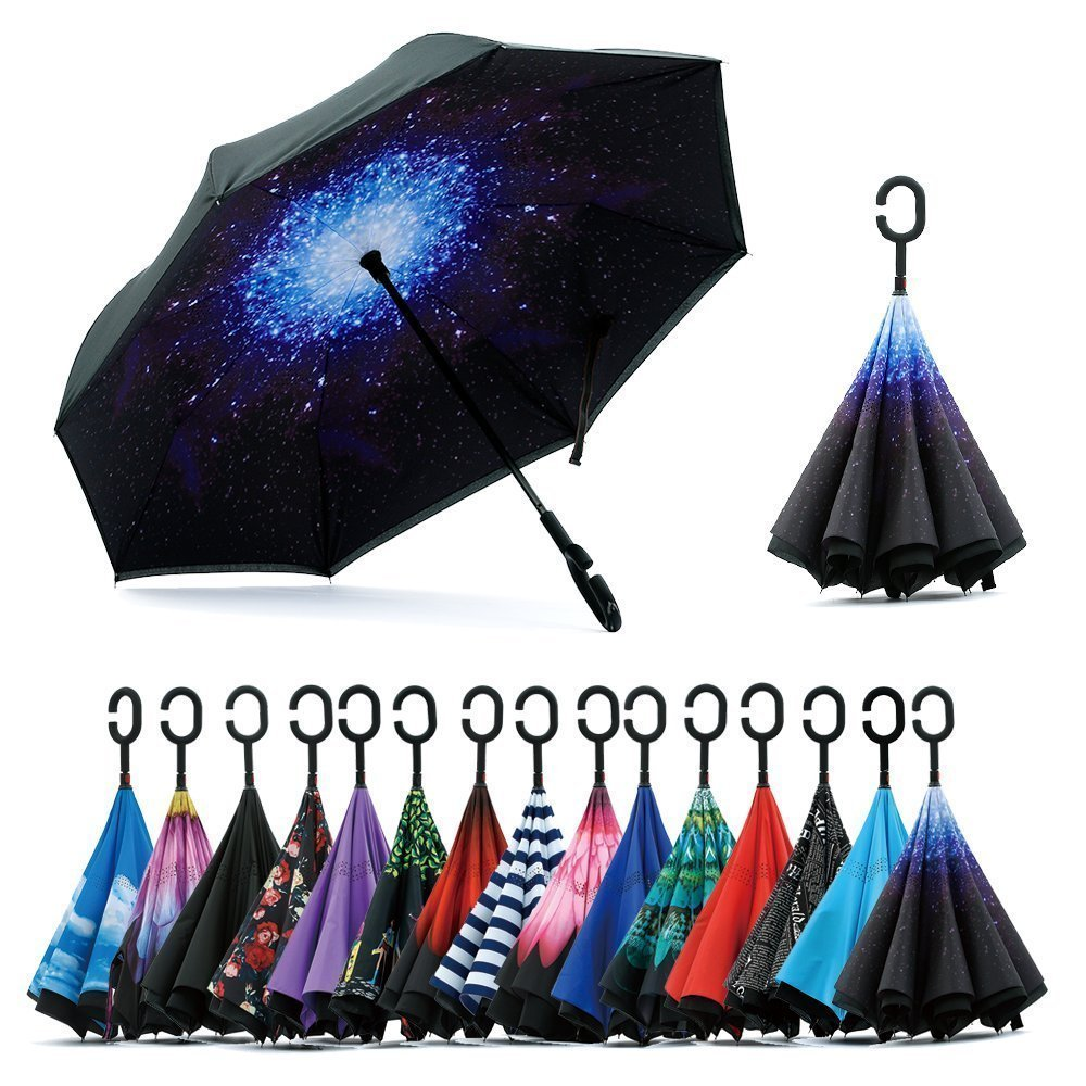 DILIP New Fancy Design Double Layer Inverted Umbrella